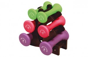 Pro Fitness Dumbbells with stand