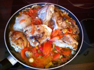 chicken with olives and tomato