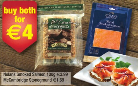 smoked salmon and brown bread offer