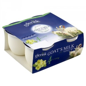 Irish made Goat natural yoghurt from Glenisk