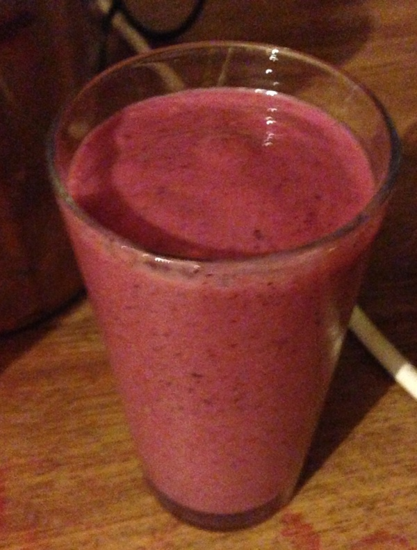 Berry and banana smoothie ready to drink