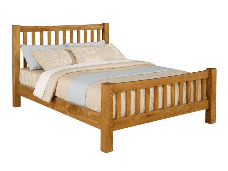 Denver American white oak bed frame