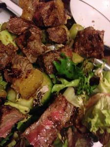 Simple steak salad