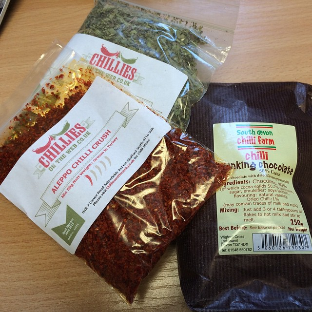 chilli and herbs