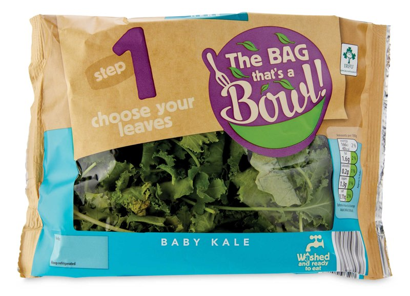 baby kale bag from Aldi