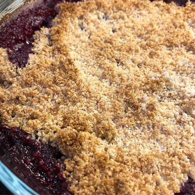 low carb crumble