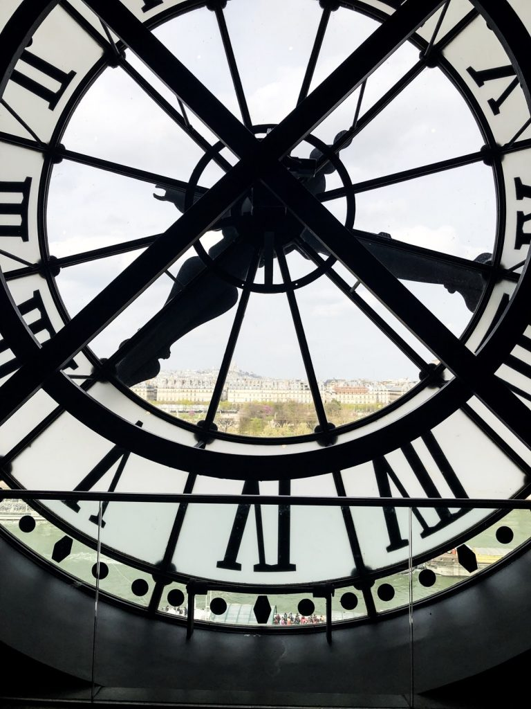 Giant see through clock face